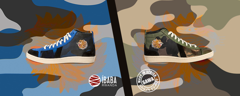 SAWA x Ibaba Rwanda    When    Ethiopia    meets    Rwanda   …  We have teamed up with  Ibaba Rwanda  to style our  TSAGUE ETHIOPIA CLUB . The upper of the shoes features a mix of premium leathers, merinos wool, camo nylon canvas and a unique hand embroidered lion head. Each lion head is unique and it has been hand embroidered by a woman from  Ibaba Rwanda  project. Several days of work are needed to make a complete pair of shoes. The result is a unique piece of art!   www.ibabarwanda.com