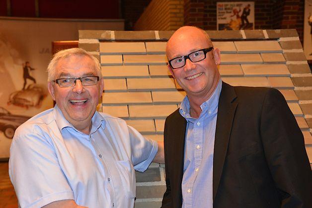 Jørgen Strøjer (tv) og Flemming Rasmussen, Strøjer Tegls nye direktør
