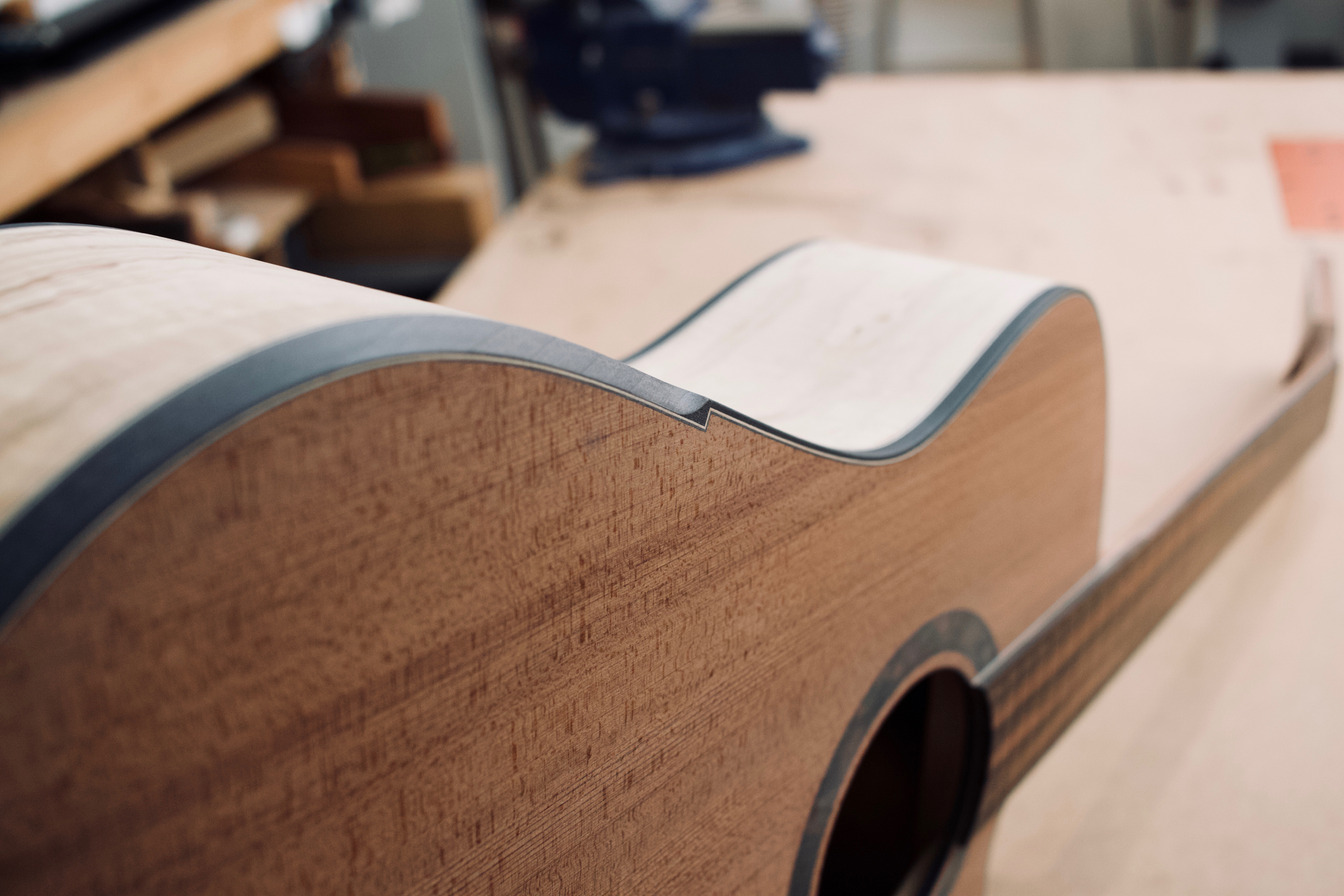Micro bevel on a Redwood / Spalted Maple Model M.