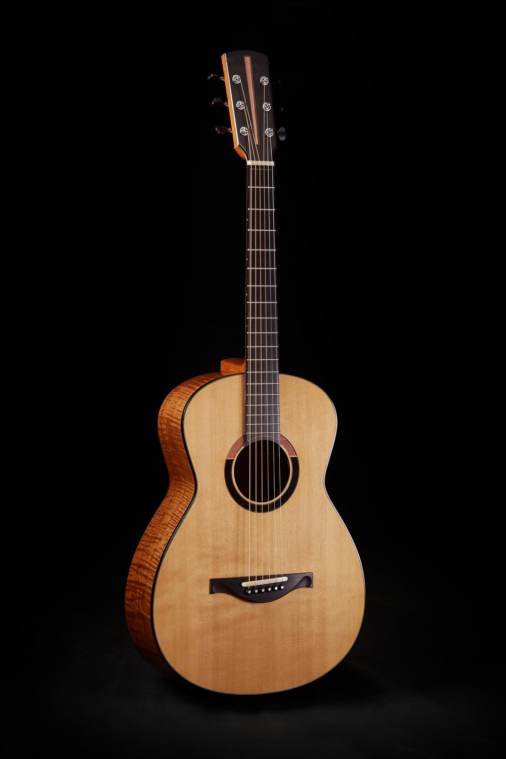 Peter's first Sands Guitar - 00 in Reclaimed Railroad Sitka Spruce and T'Zalam