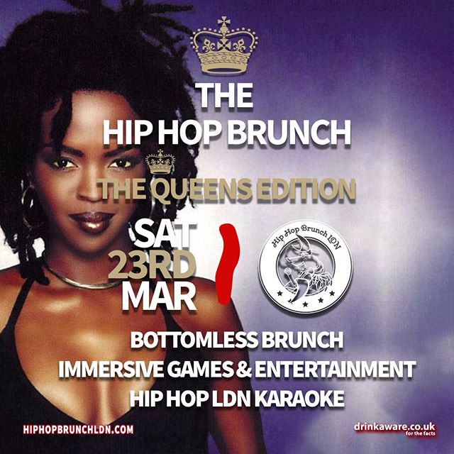 Where da Queens at?! Ladies, get 20% OFF Queens Edition 'Brunch Tickets' by using code QUEENS20 at checkout! 👑🔥 Ladies, March the 23rd is YOURS (guys you're welcome too!) as we celebrate International Womens Day, Hip Hop Brunch style! #InternationalWomensDay  Tickets & info 👉 link in bio