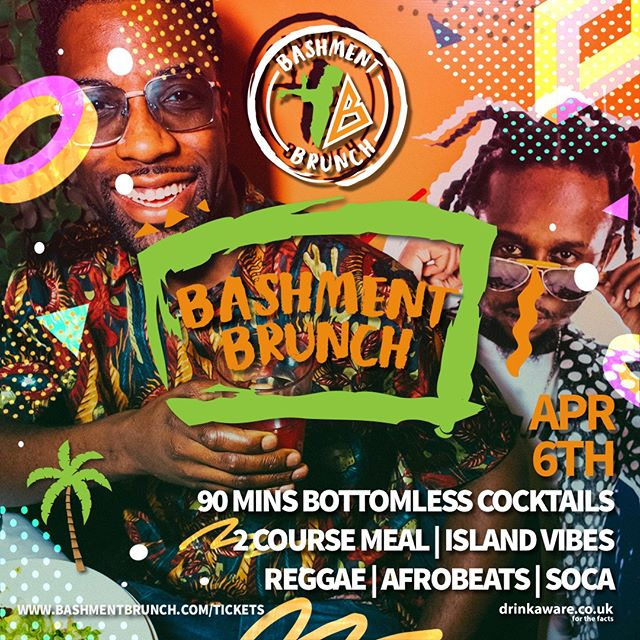 Live your best life at London's Original Bashment Brunch!!! 🌴 Reggae, Soca, Afro Beats, Dancehall and Hip Hop not to mention bottomless cocktails and games! 😆🙌 With DJ & Host Manny Norte, be ready to #MashUpDiPlace  Tickets & info 👉 link in bio  #BashmentBrunch . . . . #bashmentbrunchuk #bashmentbrunchldn #bashmentparty #afrobashment #bashmentsoca #afrobeats #afrobeatsuk #afrobeatsmusic #ukafrobeats #soca #socamusic #ilovesoca #socaislife #dancehallmusic #dancehallqueen #dancehallreggae #dancehalldaily #dancehallartist #dancehallyparty #reggaedancehall #afrodancehall #dancehallking #reggaeton #reggaetonmusic #reggaetondance #reggaetonparty #reggaeparty