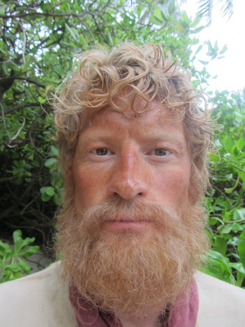 """Beard and extensions for the project """" KONTIKI """" Designed and applied by Asta"""