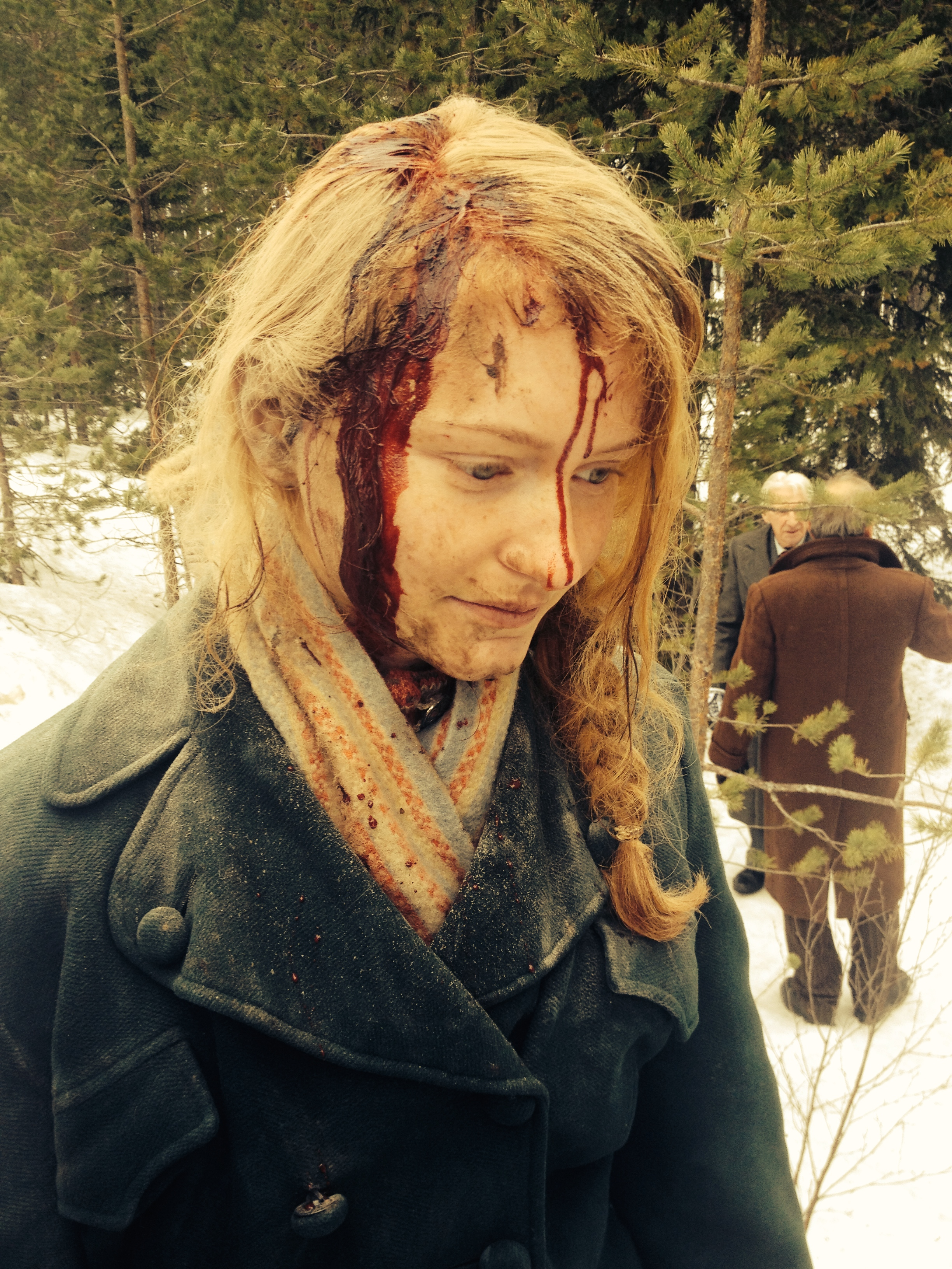 """Spfx out of the kit make up fro the project """" KONGENS NEI """" Applied by Asta"""