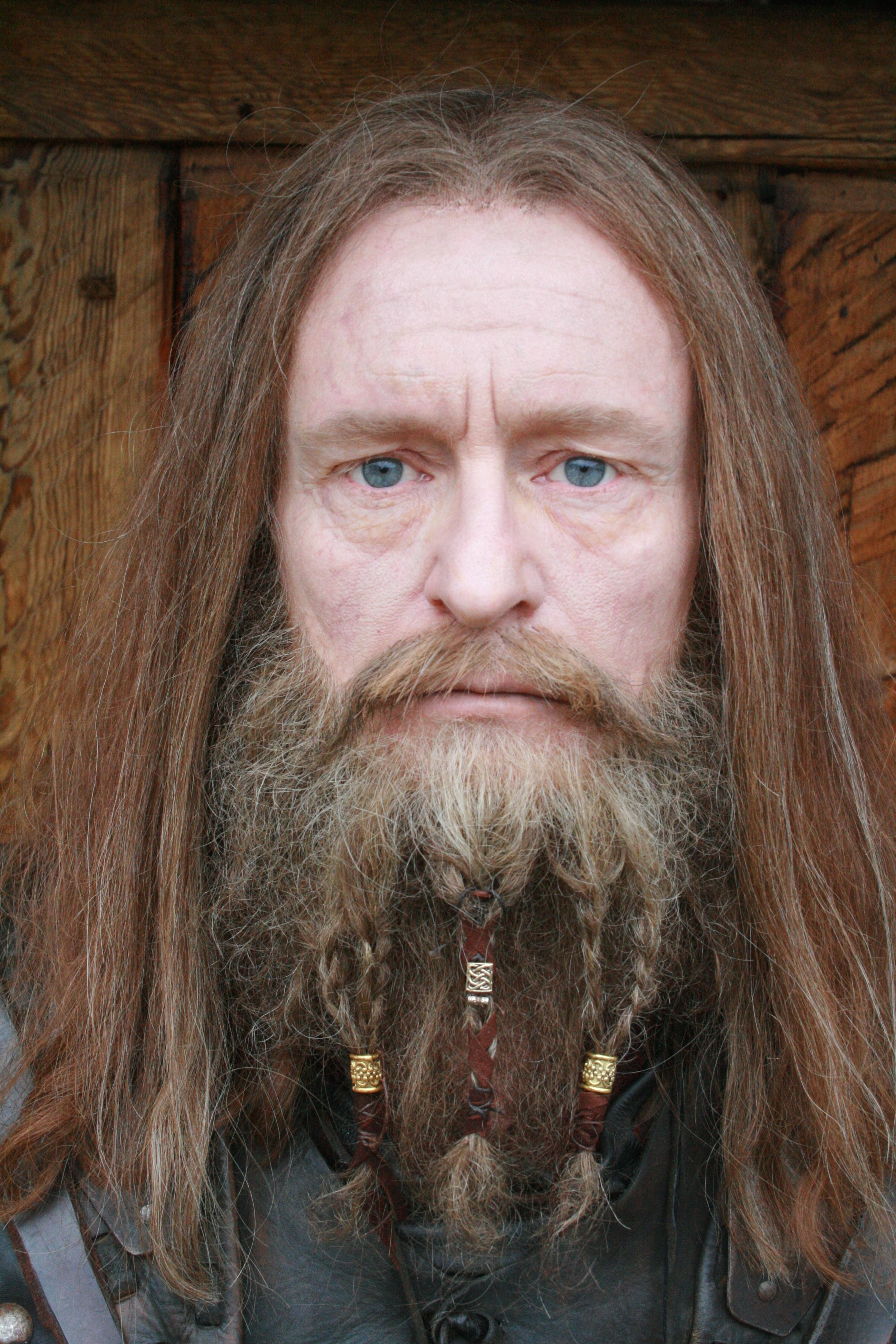"""Wig and beard for the project """" VIKINGANE """" Designed and applied by Asta and DImitra"""