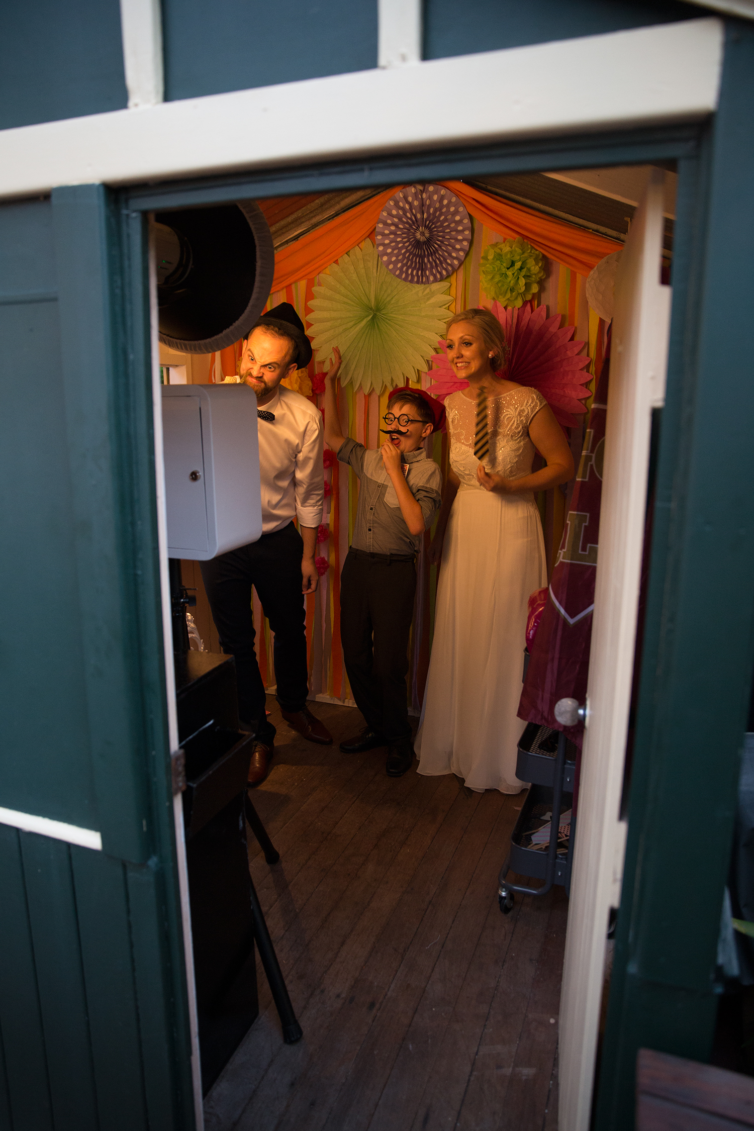 Photo booth setup unique cubby house roaming photography