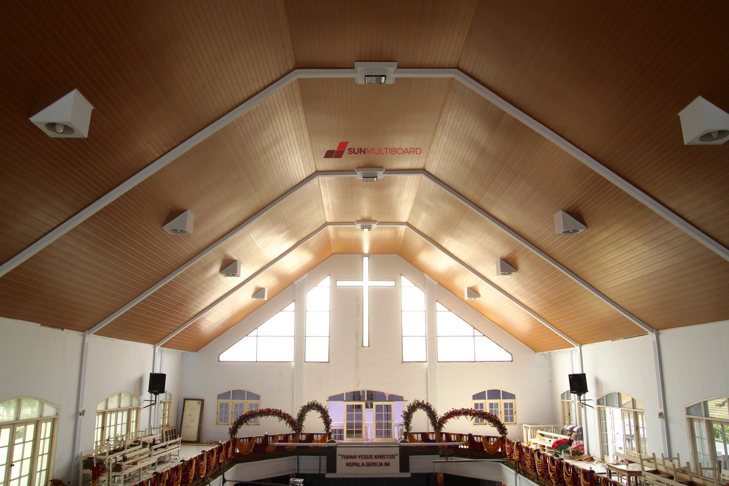 Contoh Gambar Plafon Gereja  desain plafon masjid rumah joglo limasan work