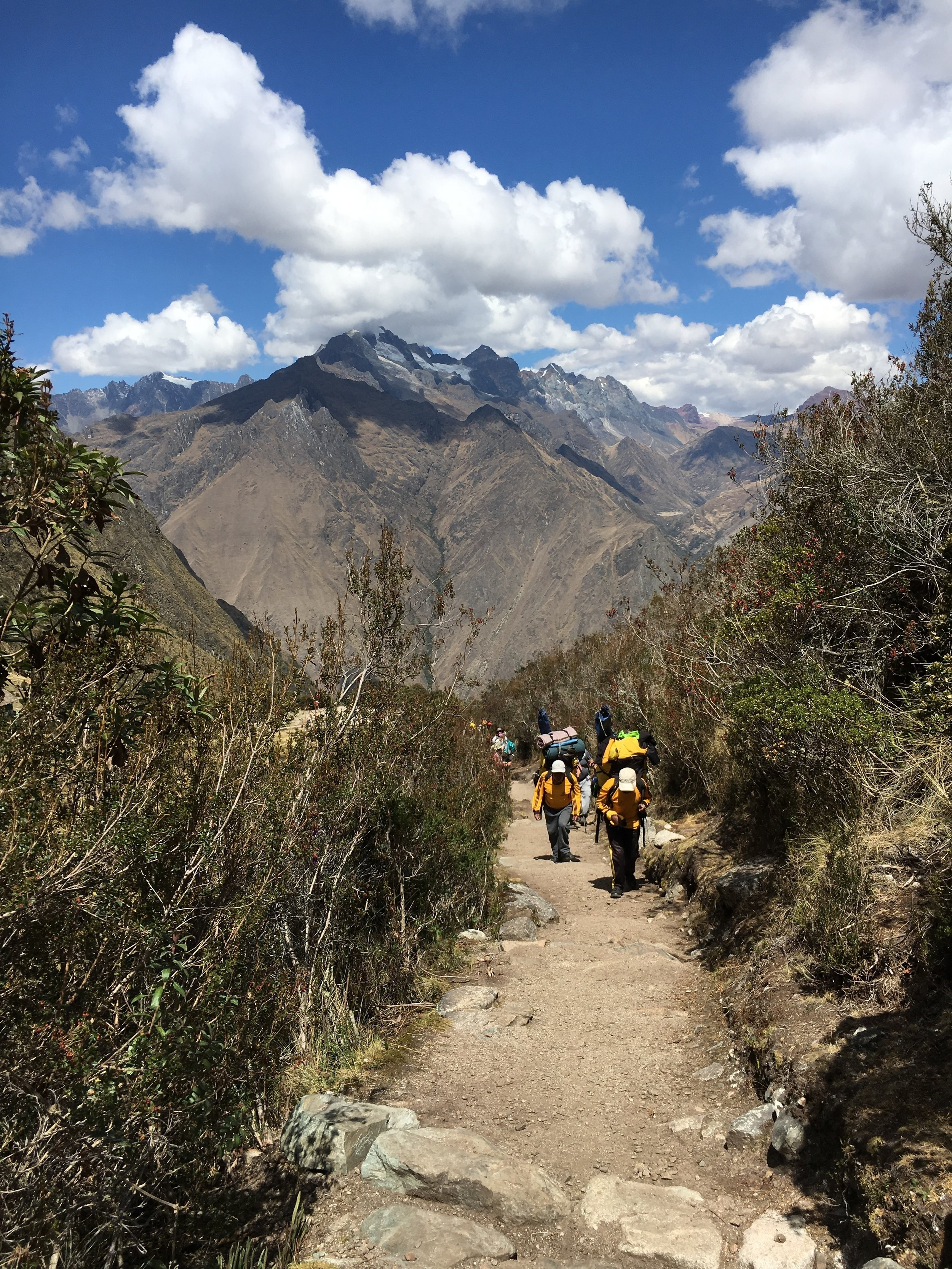 Porters on the Inca Trail. These men race through the mountains while carrying necessities for the campers. I'd die.