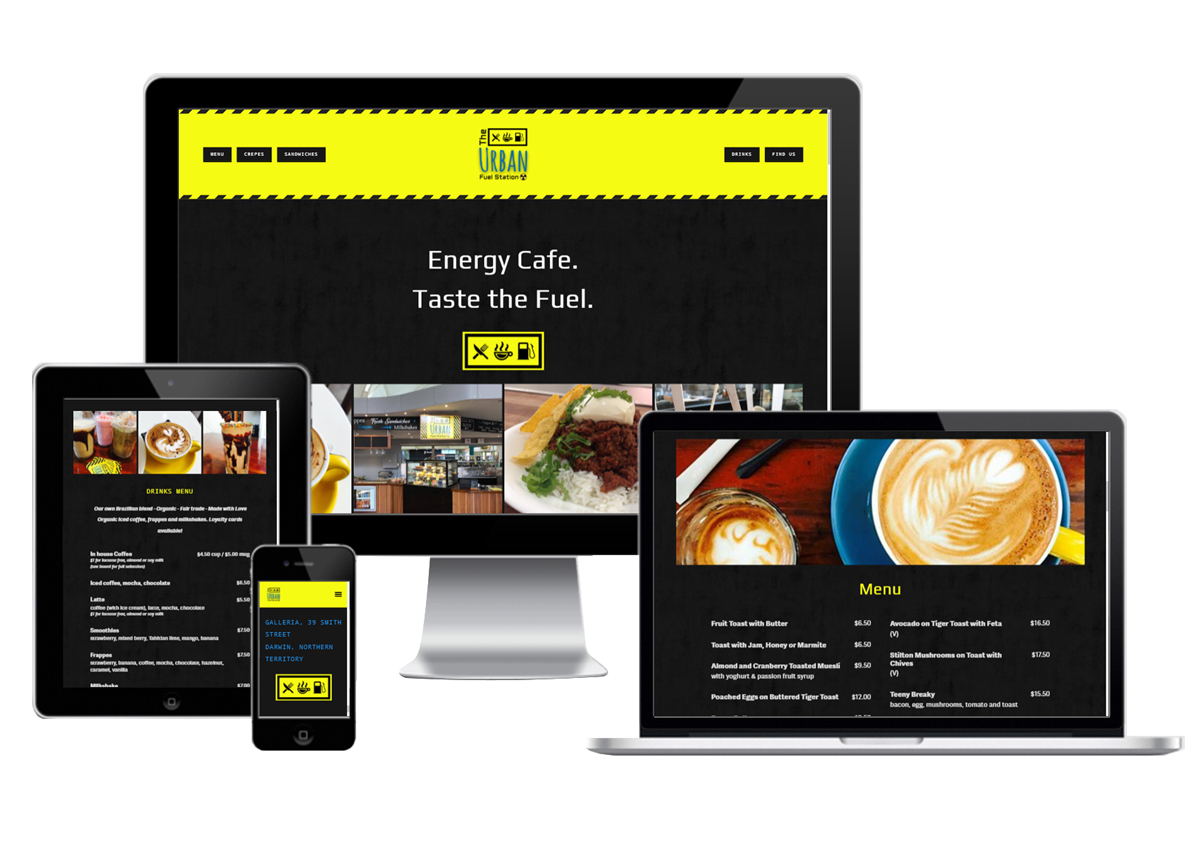 The Urban Fuel Station mobile responsive cafe website designed and developed by Webb & Flow