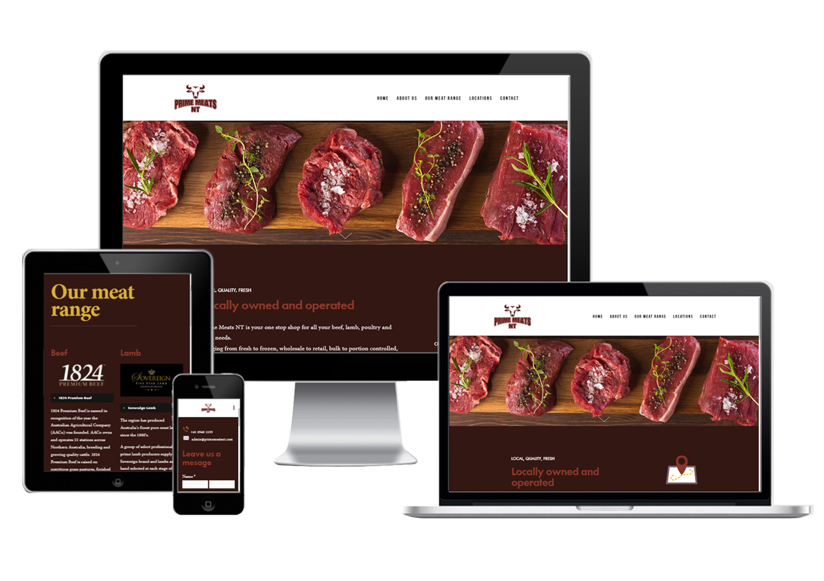 Meat industry mobile ready websites