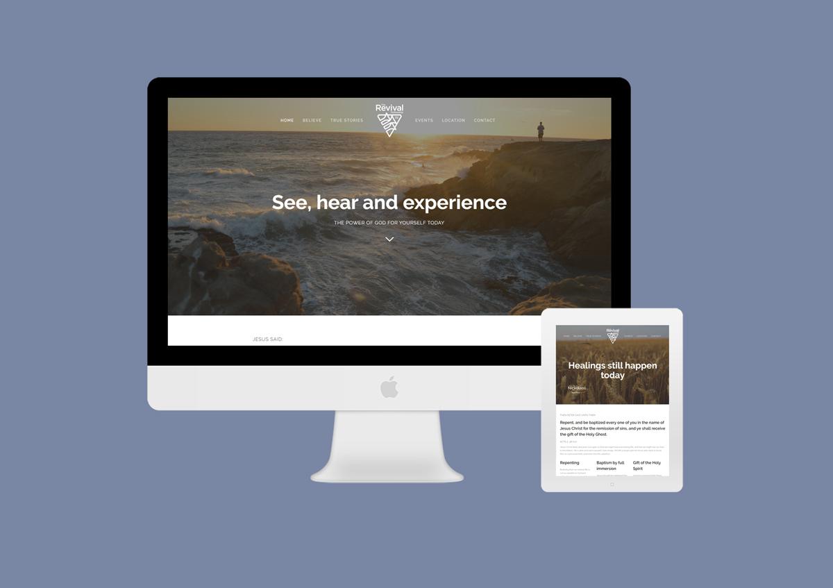 Darwin Revival Fellowship Church website design and development