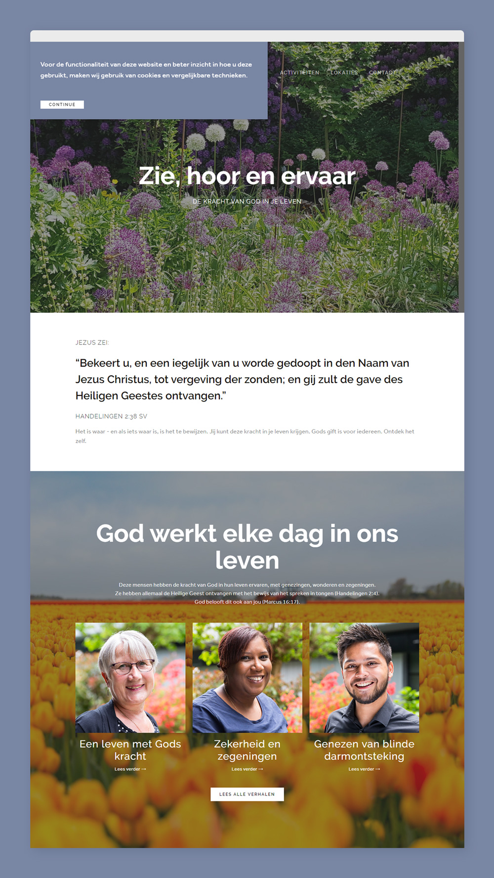 Revival Fellowship Netherlands GDPR ready Squarespace site