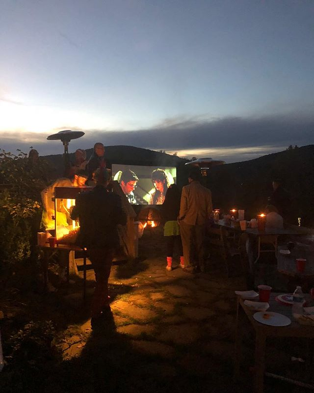 #ThrowbackThursday to a rehearsal dinner and outdoor movie night at #TCMH! #tbt