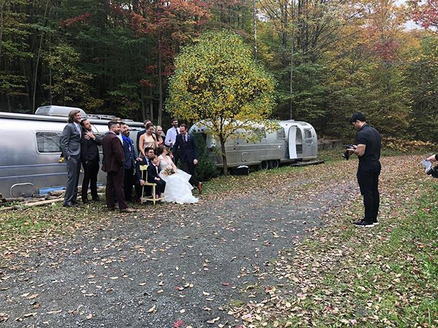 #ThrowbackThursday to picture time at #TCMH! #TBT . . . #weddingvenue #weddingvenuenyc #weddingsummer2018 #summer2018wedding #weddingplanning #weddingphotography #weddingdecor #weddinginspo #weddingideas #farmhousewedding #TCMH #eventplanning #barnwedding #airstream #airstreamdreams #airstreamdream