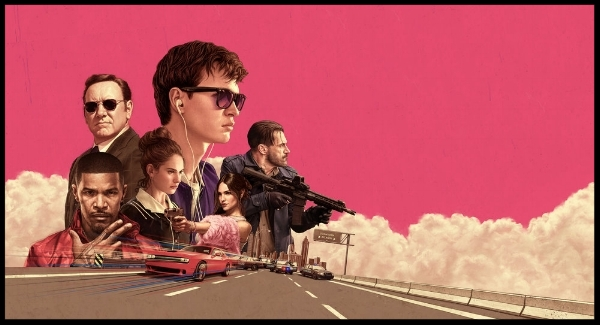 7.   Baby Driver    I'd like to drive cross-country with Edgar Wright. I'd even let him choose the music. In   Baby Driver,   Wright creates a character out of rhythm and words. He marries music and cinema in a way that encourages the audience to rise up from their seats and sing and dance along. I know I did and I'll do so every single time I watch his innovative tribute to song and scene.