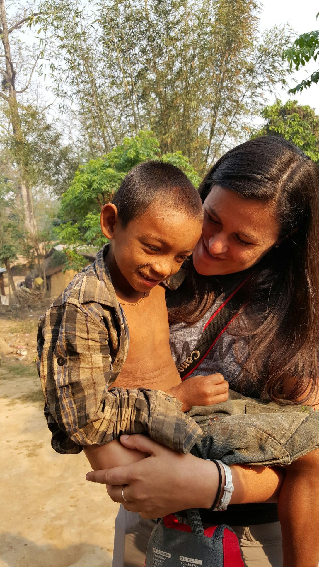 Santosh, a young Nepalese boy who lives in the village of Padampur.