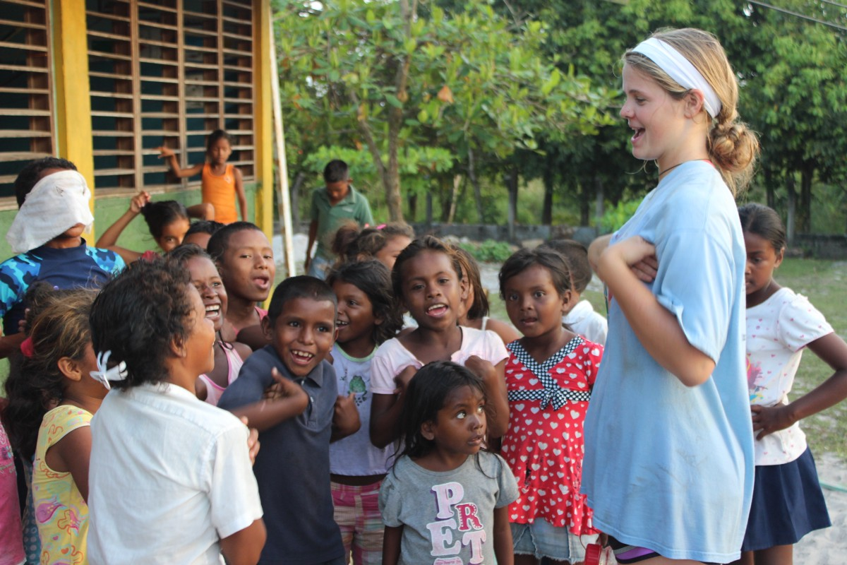 Kylie Winkleman had a special way of connecting with just about every child on the island through games, funny faces, other activities