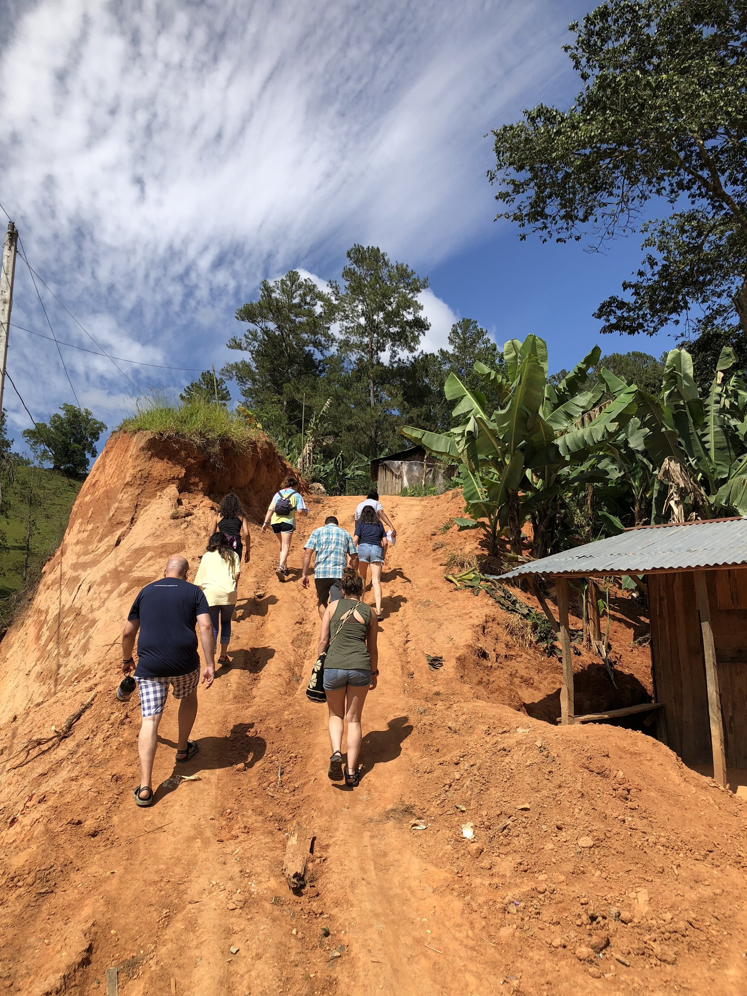 Our volunteers travel to a rural community for filter follow-ups.