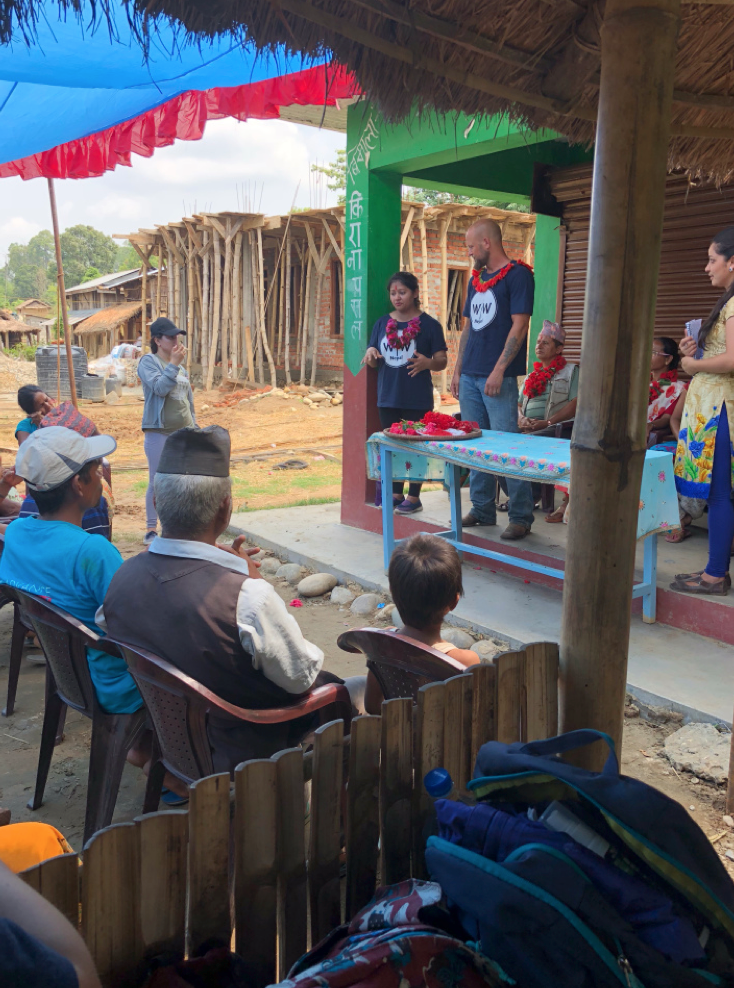 W|W Founder Doc Hendley takes part in the inaugural ceremony of the new water system in Riatole.