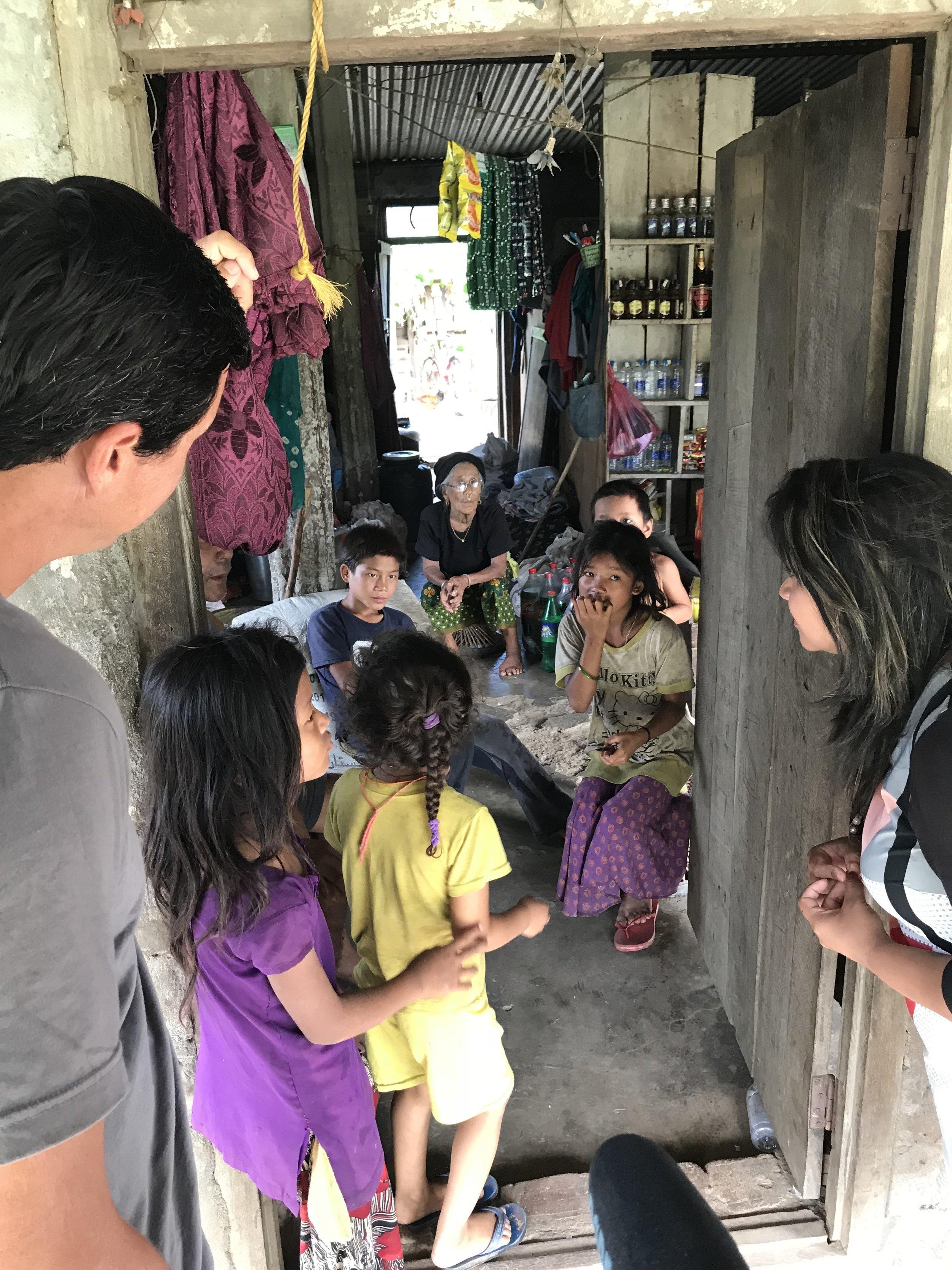 Volunteers visit a Nepali Home