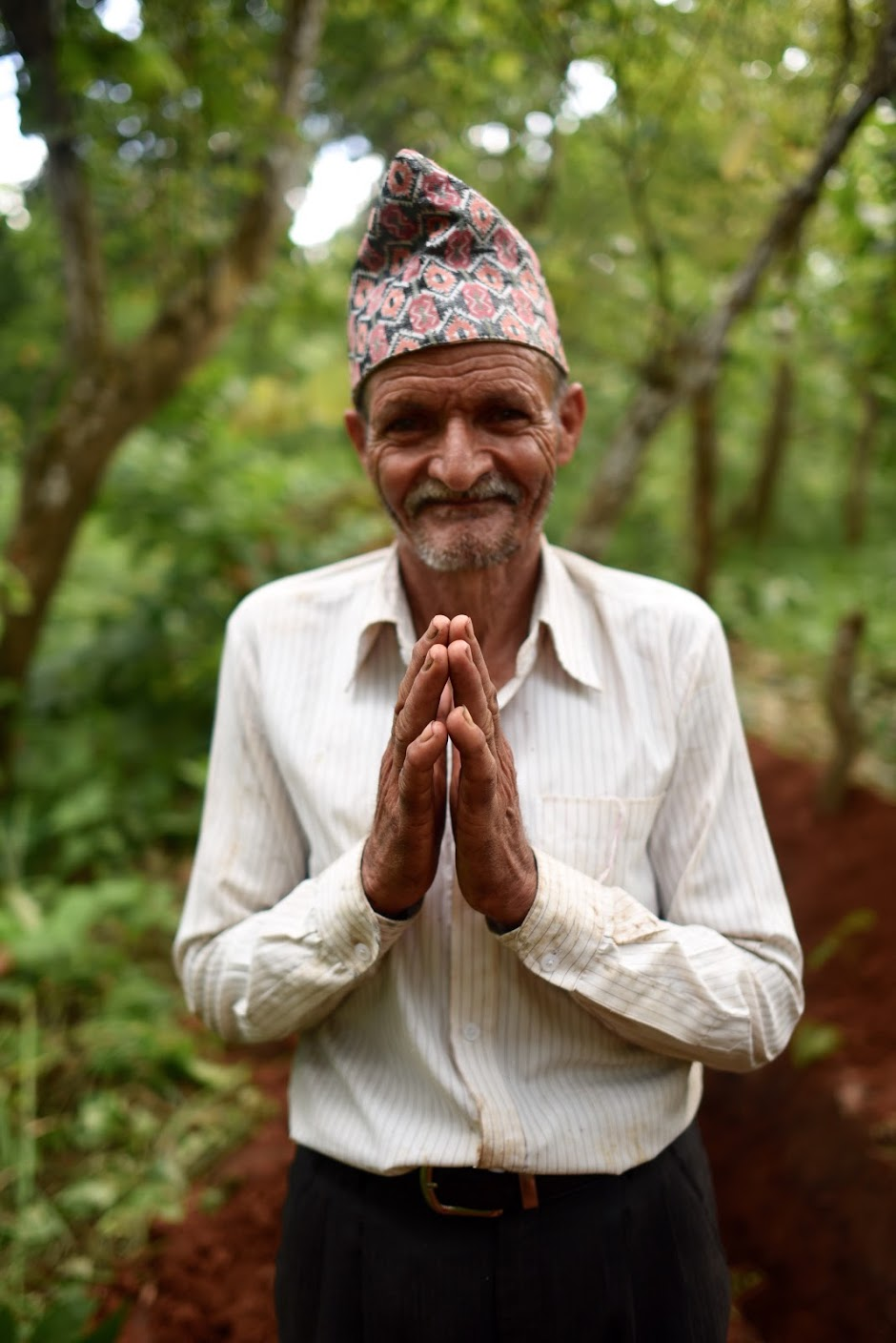 Gyan Koffe, President of the W|W Water User Committee in Kalyanpur