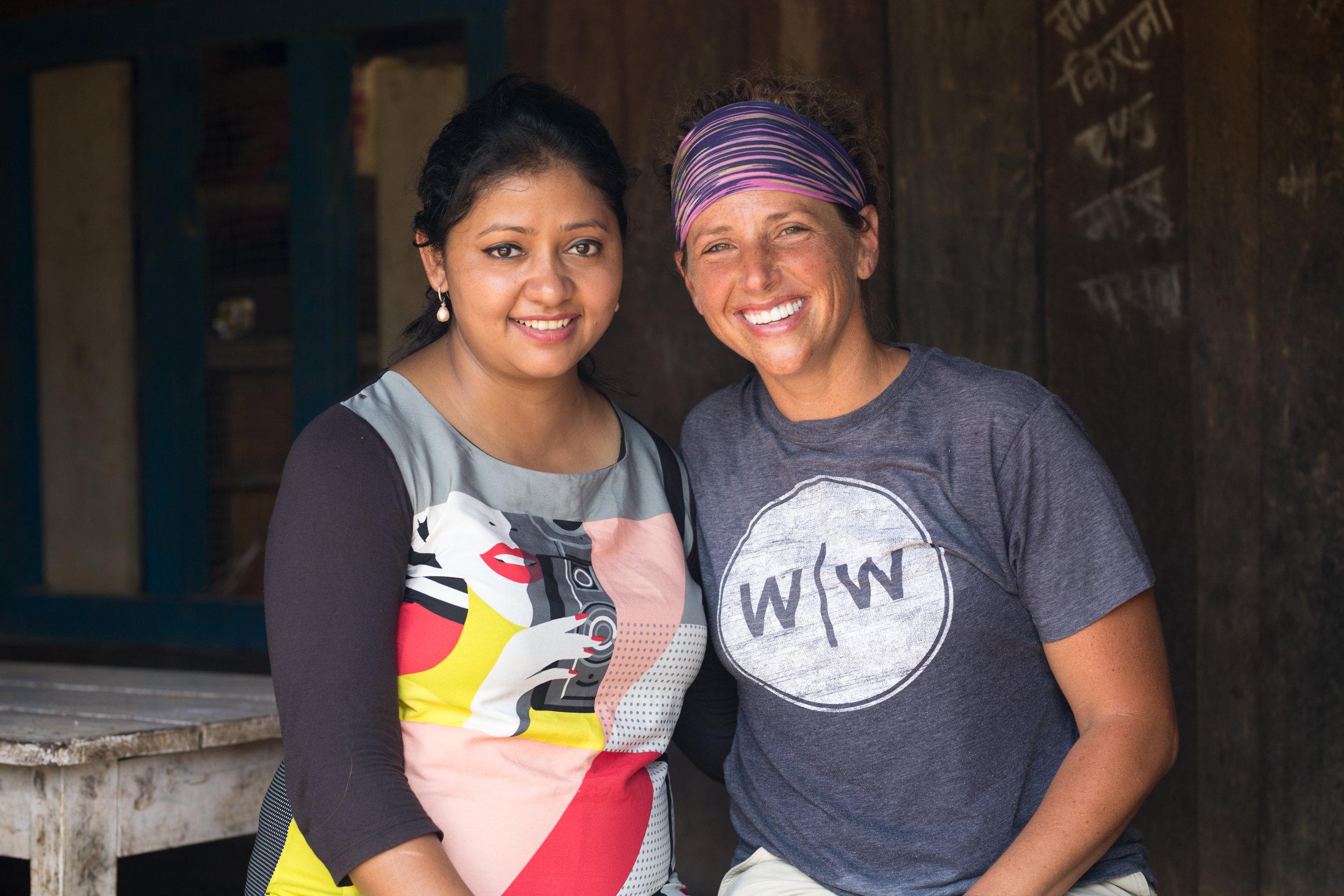 Roshani Karki (left) and Leslie Cuthbert enjoying time together.