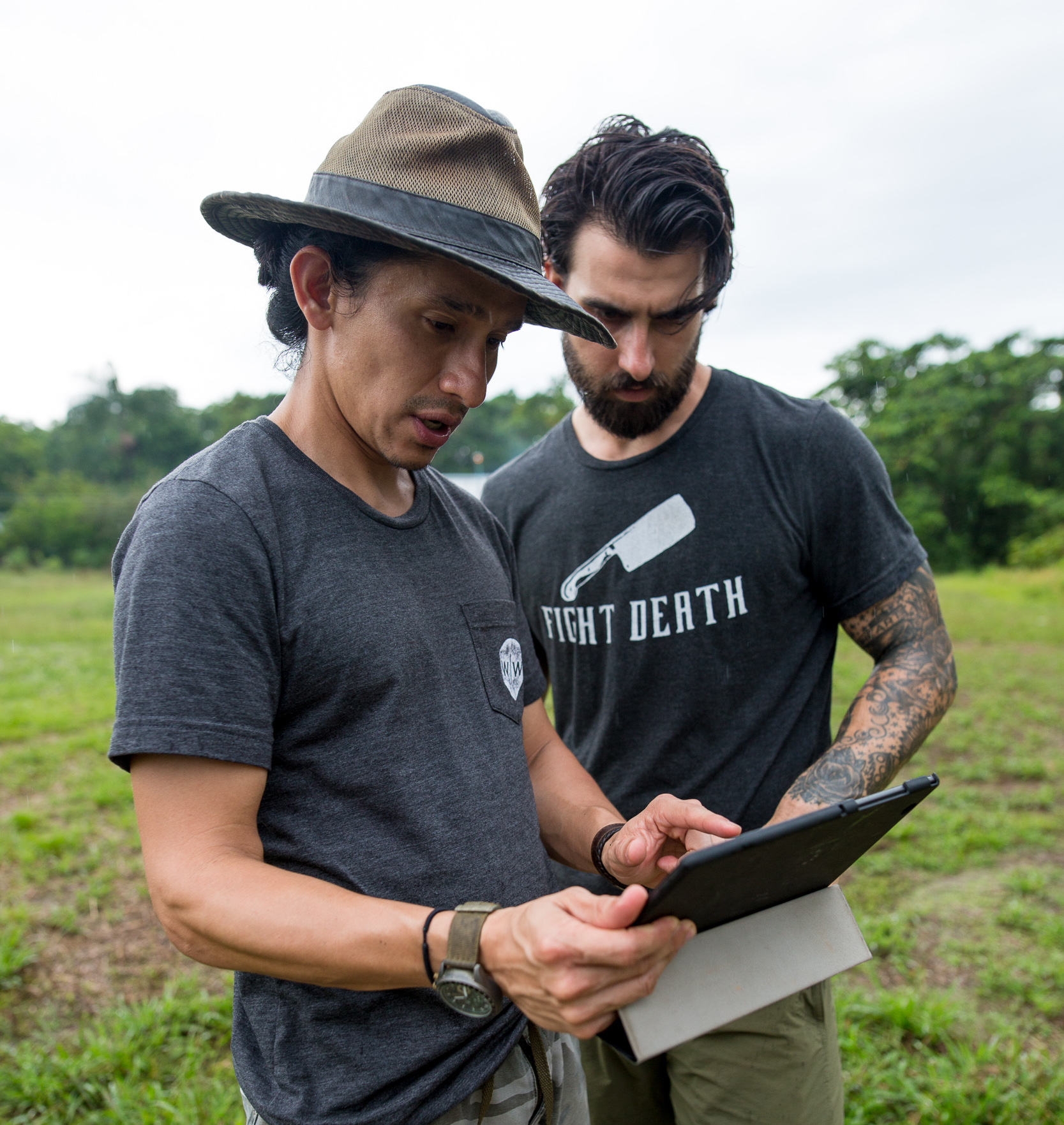 Jhonny and Josh strategize in Leticia, Colombia.