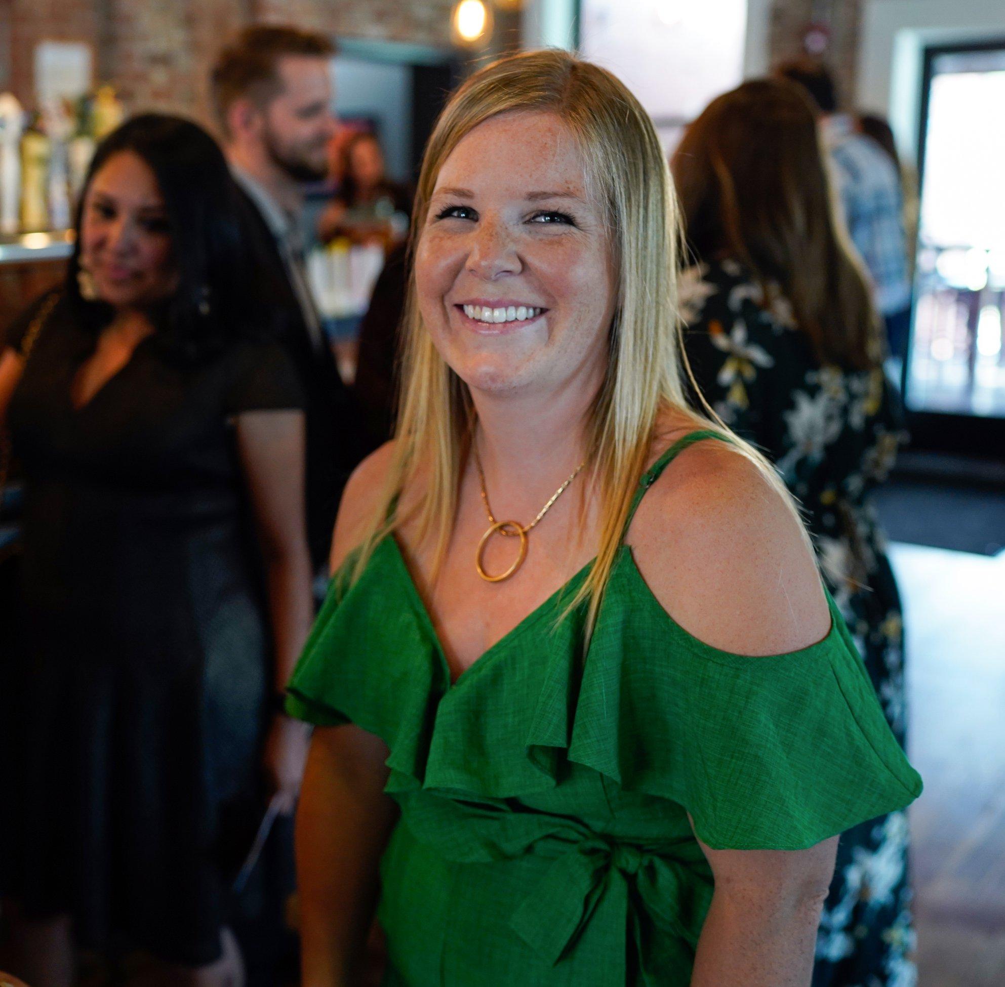 Courtney Mattar rocking her cocktail attire!
