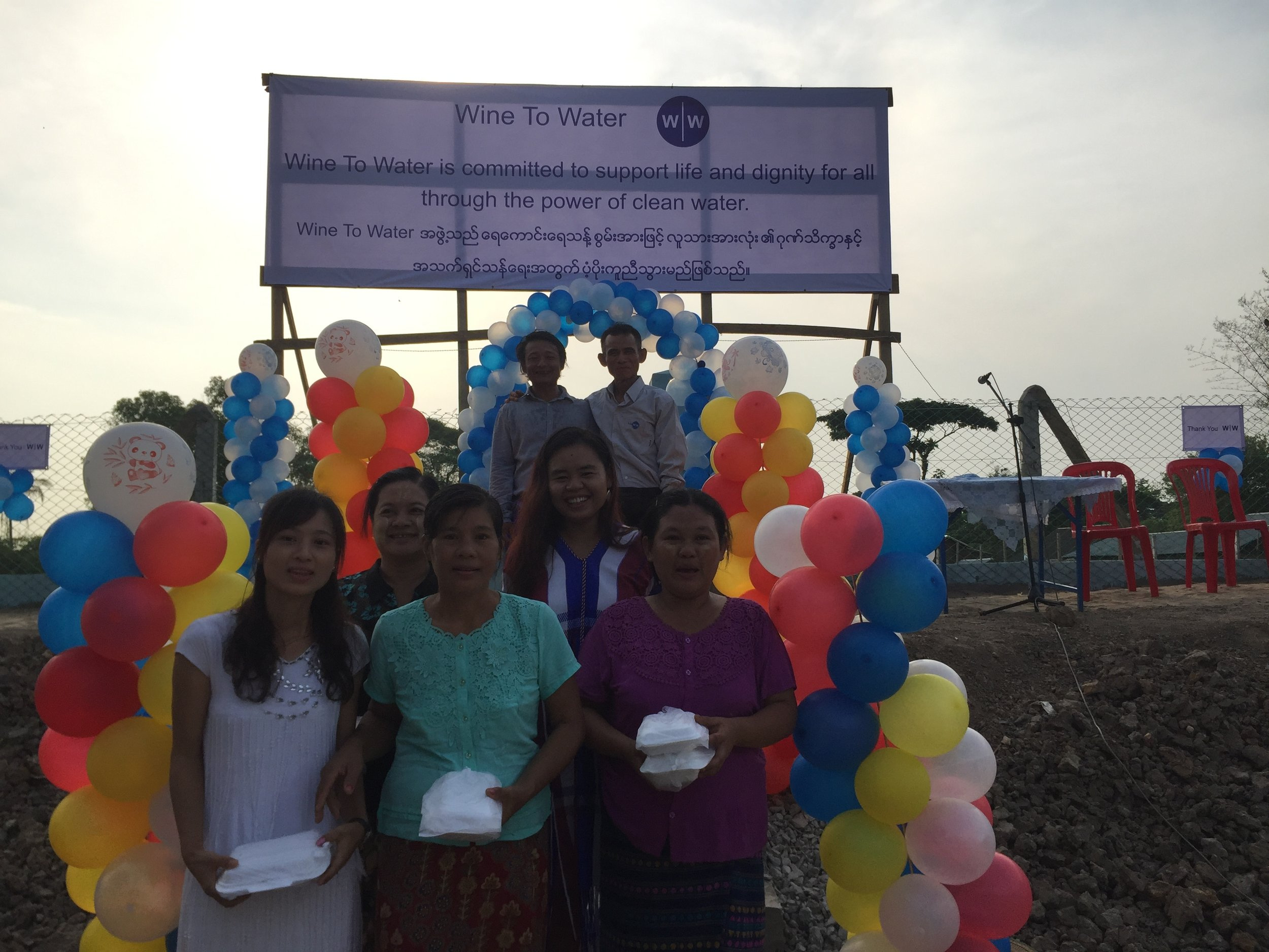 Inauguration of the Ka Det Chaung reservoir!