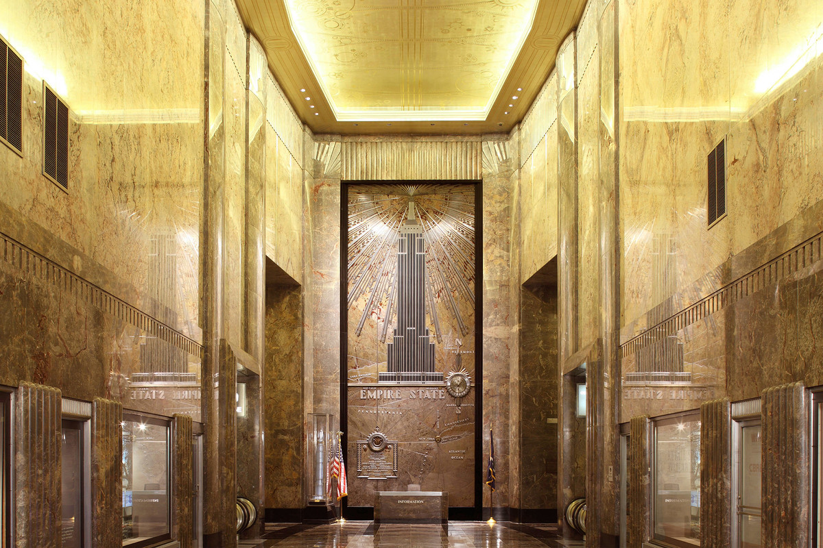 The lobby of the Empire State Building