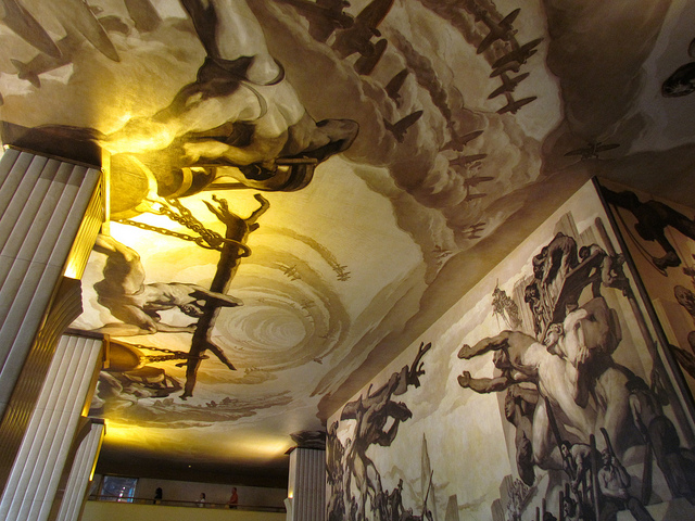 American Progress (back wall) and Time (ceiling), murals in the lobby of 30 Rockfeller