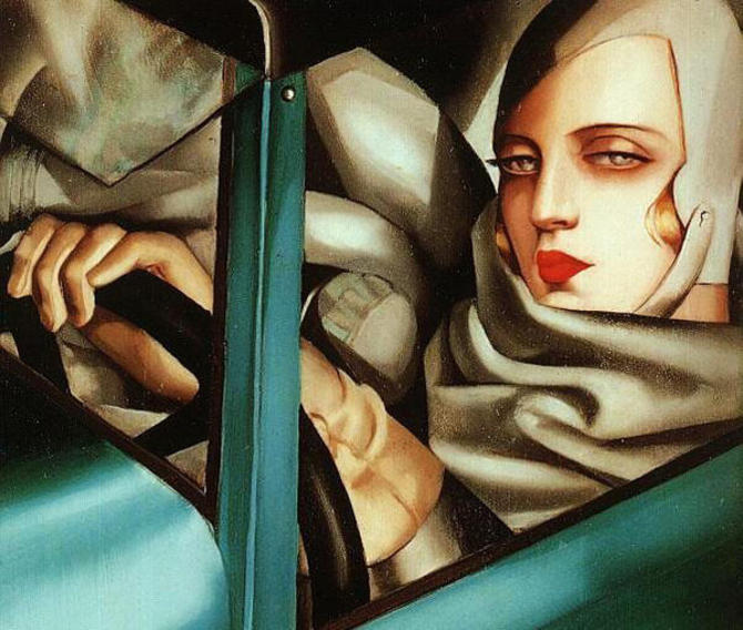 Tamara de Lempicka, Self portrait in a Bugatti