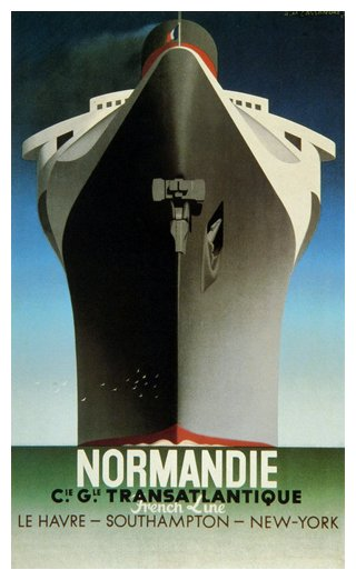Normandie,  French Line Poster, 1935
