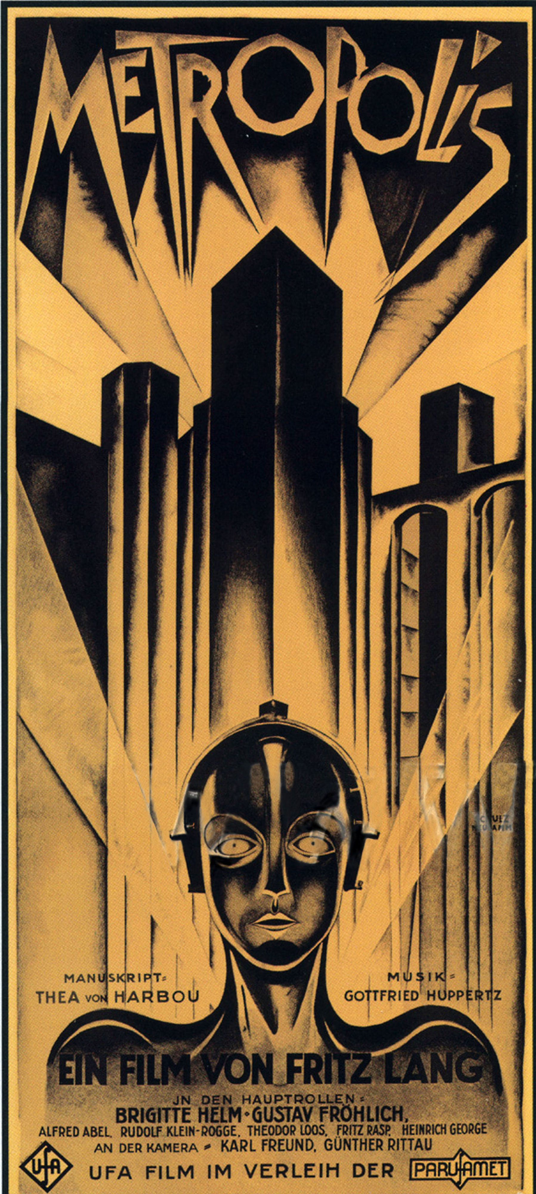 "Heinz Schulz-Neudamm, Poster for the movie ""Metropolis"" directed by Fritz Lang, 1926"