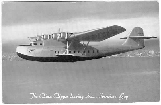 The aicraft China Clipper, 1935
