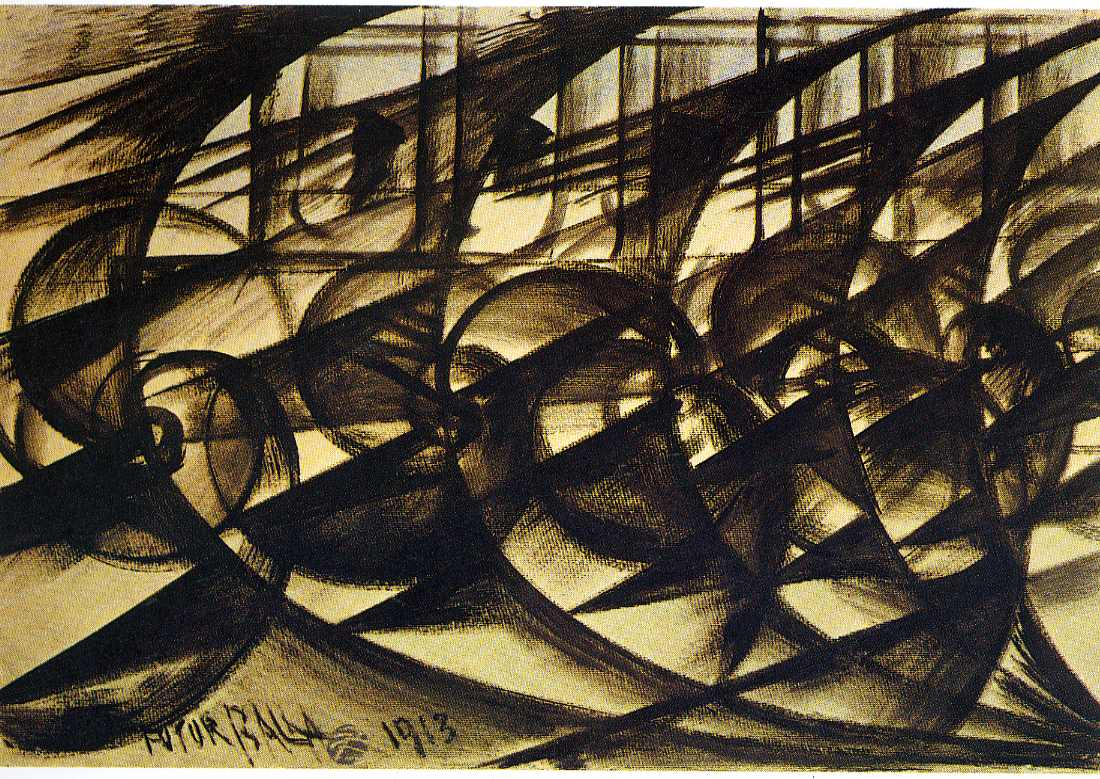 Giacomo Balla, Speeding Car (Study). Abstract Speed.