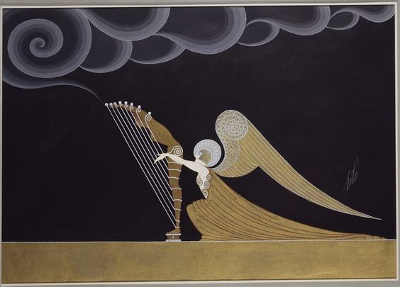 Erté (Romain de Tirtoff), Angel Arist for blues.