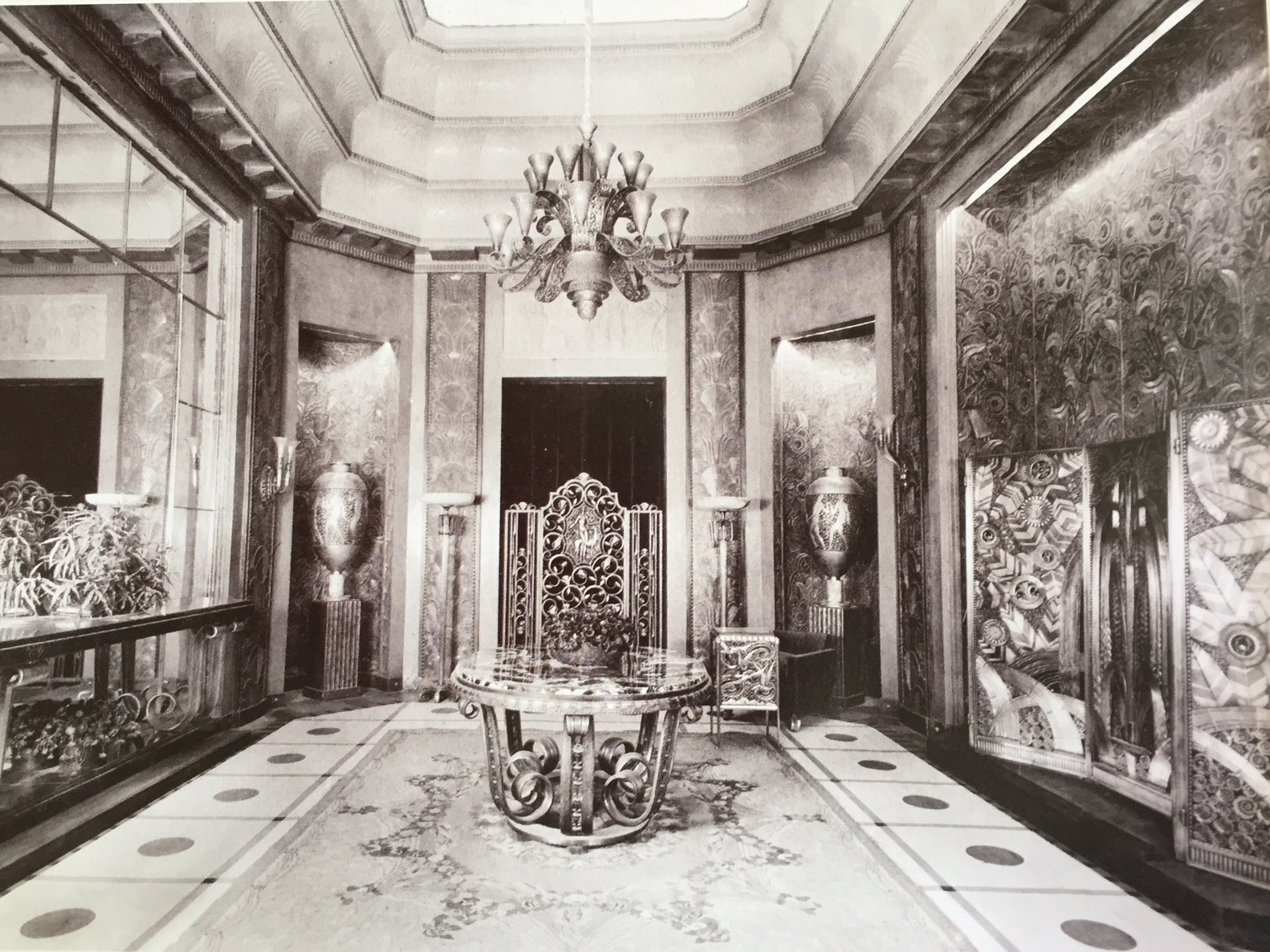 Edgar Brandt, Salon for a French Embassy, created for the International Exposition of Modern Decorative and Industrial Arts, Paris 1925