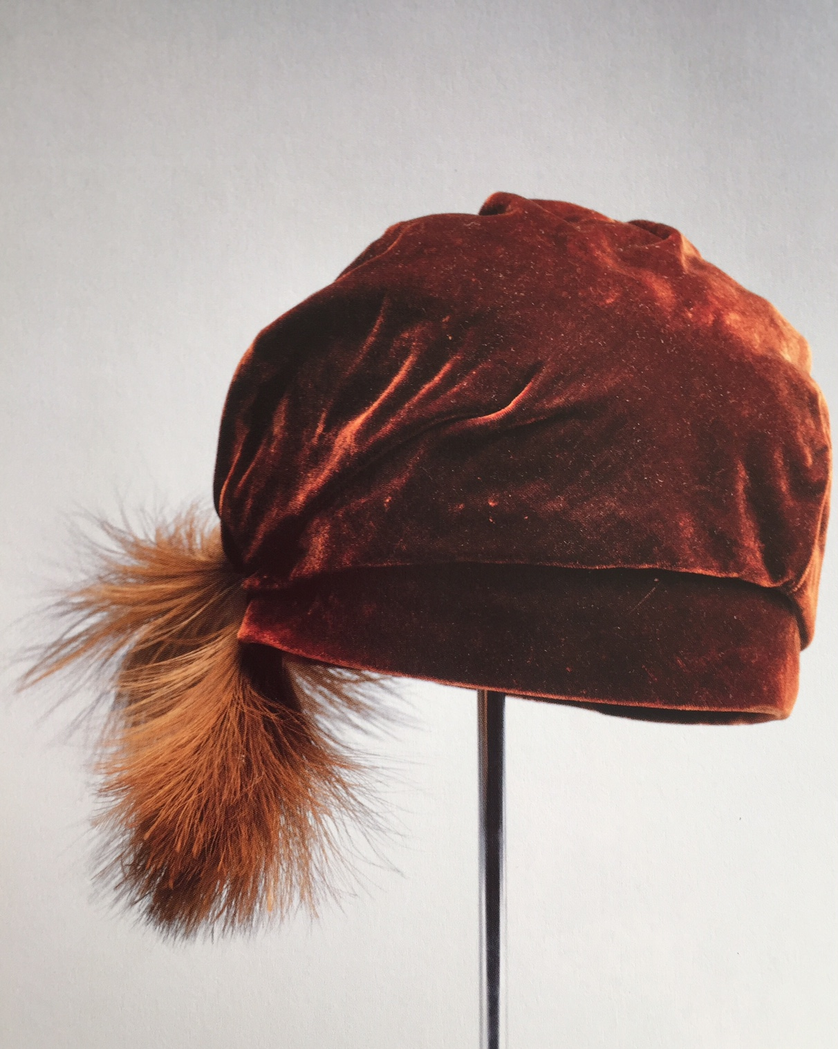 Afternoon Hat, silk and feathers, ca1924