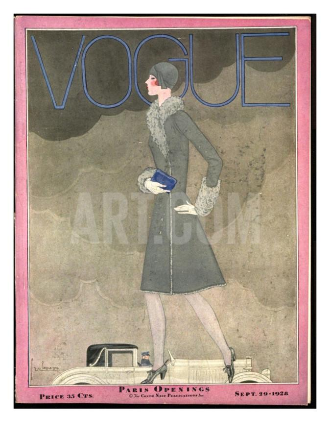 Georges Lepape, Front Cover of Vogue, 1928