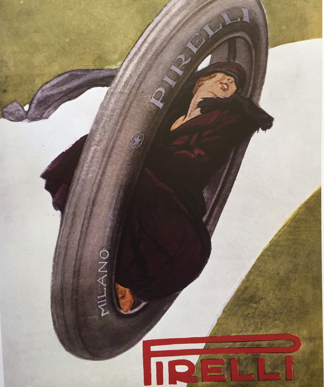 Marcello Dudovich, Advert for Pirelli tyres, 1919