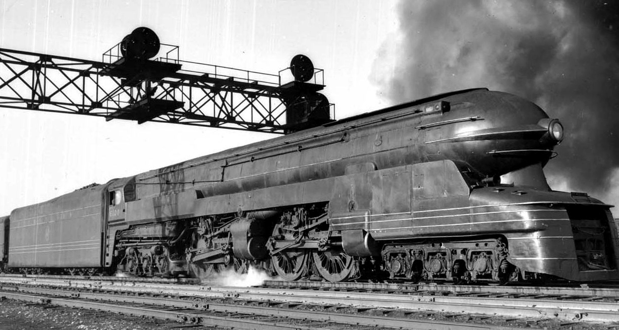 Pennsylvania Railroad S-1 Bullet Steam Train, 1939