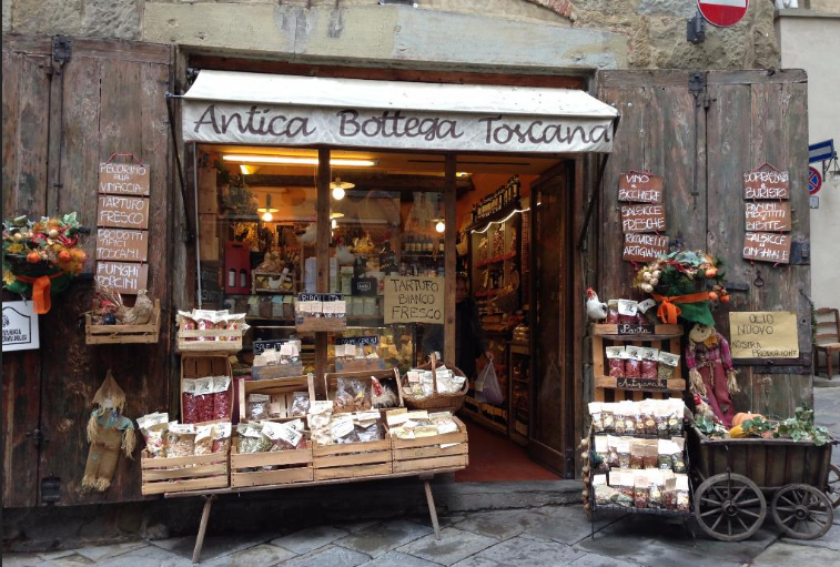 At  Antica Bottega Toscana  you can shop amazing and tasty local food from Tuscany. Yummy!