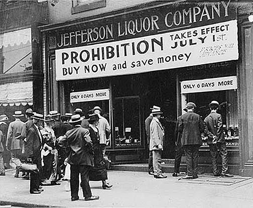 """Everything must go!"" sale in June 1920, before the Prohibition law takes effect."
