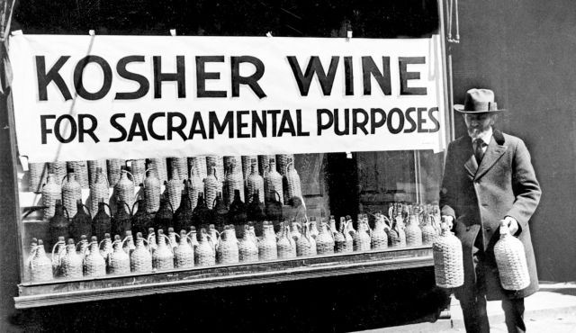 When the Prohibition Act took effect, wine could only be sold just for sacramental purposes.