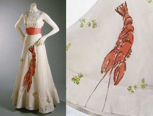 The Lobster dress made in collaboration with Salvador Dalì