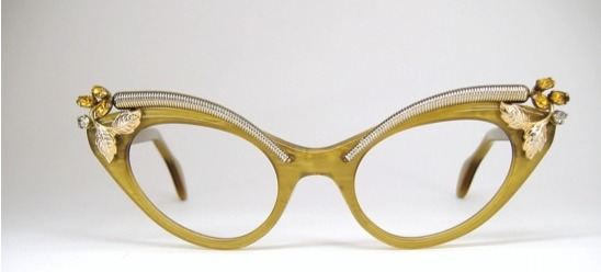Spectacles embellished with jewelry