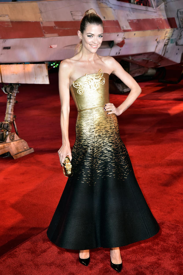 Jaime King in Schiaparelli Haute Couture at 'Rogue One: A Star Wars Story' LA premiere