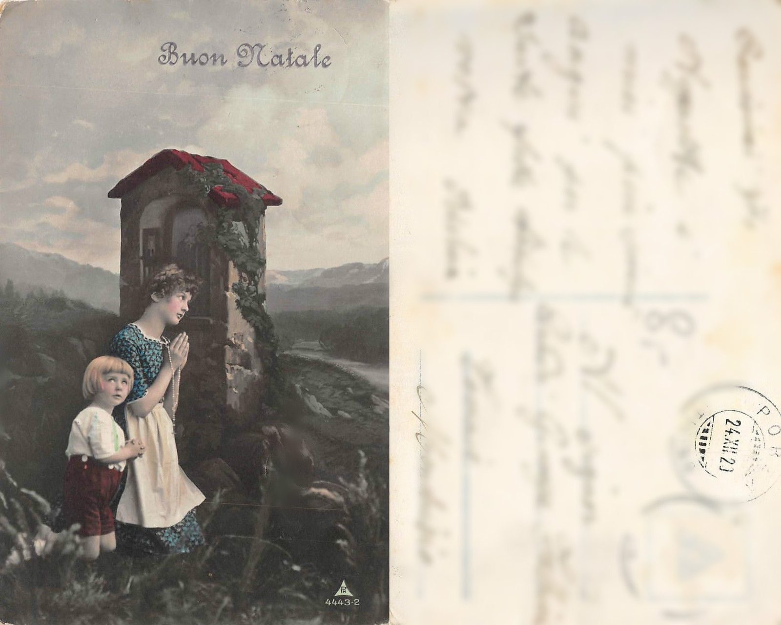 A Christmas postcard sent to my great grandmother on 24.12. 1920.