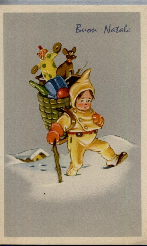 An unused 1920s greetings postcard I found in an old box at my parents house.